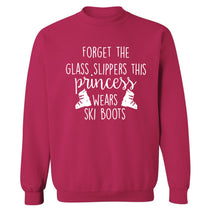 Forget the glass slippers this princess wears ski boots Adult's unisex pink Sweater 2XL
