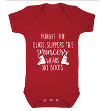 Forget the glass slippers this princess wears ski boots Baby Vest red 18-24 months