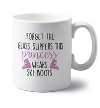 Forget the glass slippers this princess wears ski boots left handed white ceramic mug