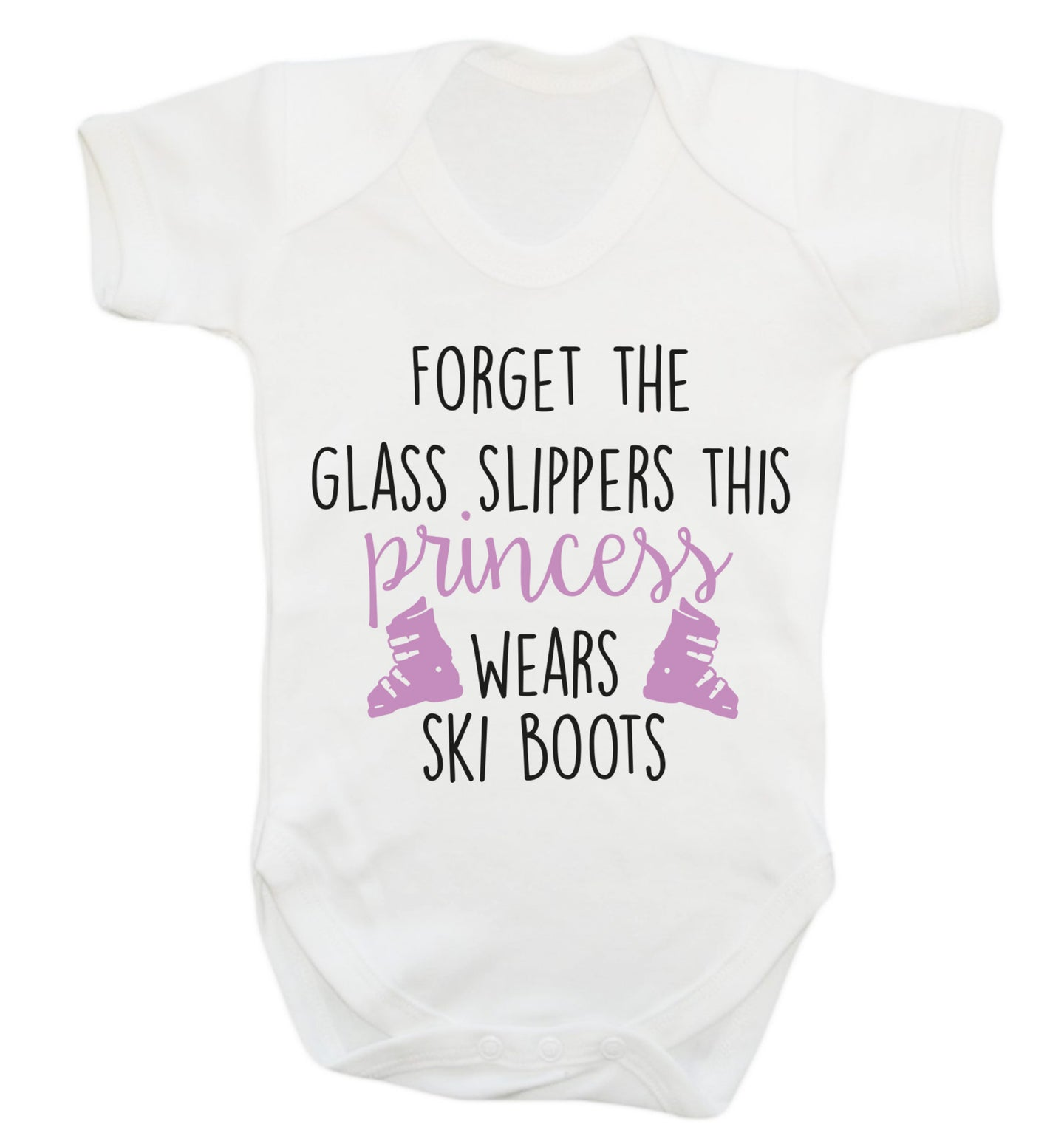 Forget the glass slippers this princess wears ski boots Baby Vest white 18-24 months