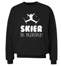 Skier in training Adult's unisex black Sweater 2XL