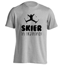 Skier in training adults unisex grey Tshirt 2XL