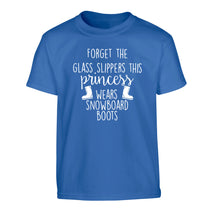 Forget the glass slippers this princess wears snowboard boots Children's blue Tshirt 12-14 Years