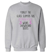 Forget the glass slippers this princess wears snowboard boots Adult's unisex grey Sweater 2XL