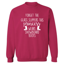 Forget the glass slippers this princess wears snowboard boots Adult's unisex pink Sweater 2XL