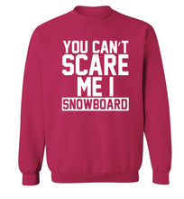 You can't scare me I snowboard Adult's unisex pink Sweater 2XL
