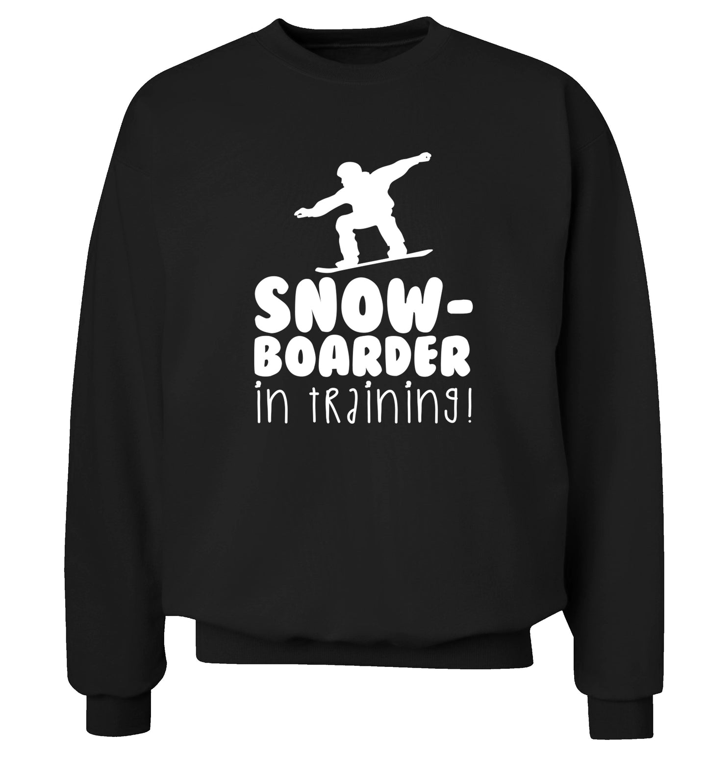 Snowboarder in training Adult's unisex black Sweater 2XL