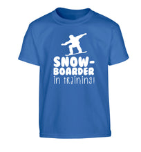 Snowboarder in training Children's blue Tshirt 12-14 Years