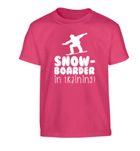 Snowboarder in training Children's pink Tshirt 12-14 Years