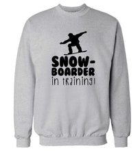 Snowboarder in training Adult's unisex grey Sweater 2XL
