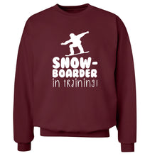 Snowboarder in training Adult's unisex maroon Sweater 2XL