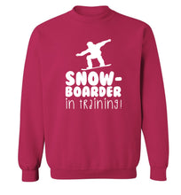 Snowboarder in training Adult's unisex pink Sweater 2XL