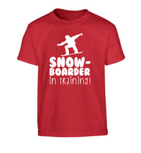 Snowboarder in training Children's red Tshirt 12-14 Years