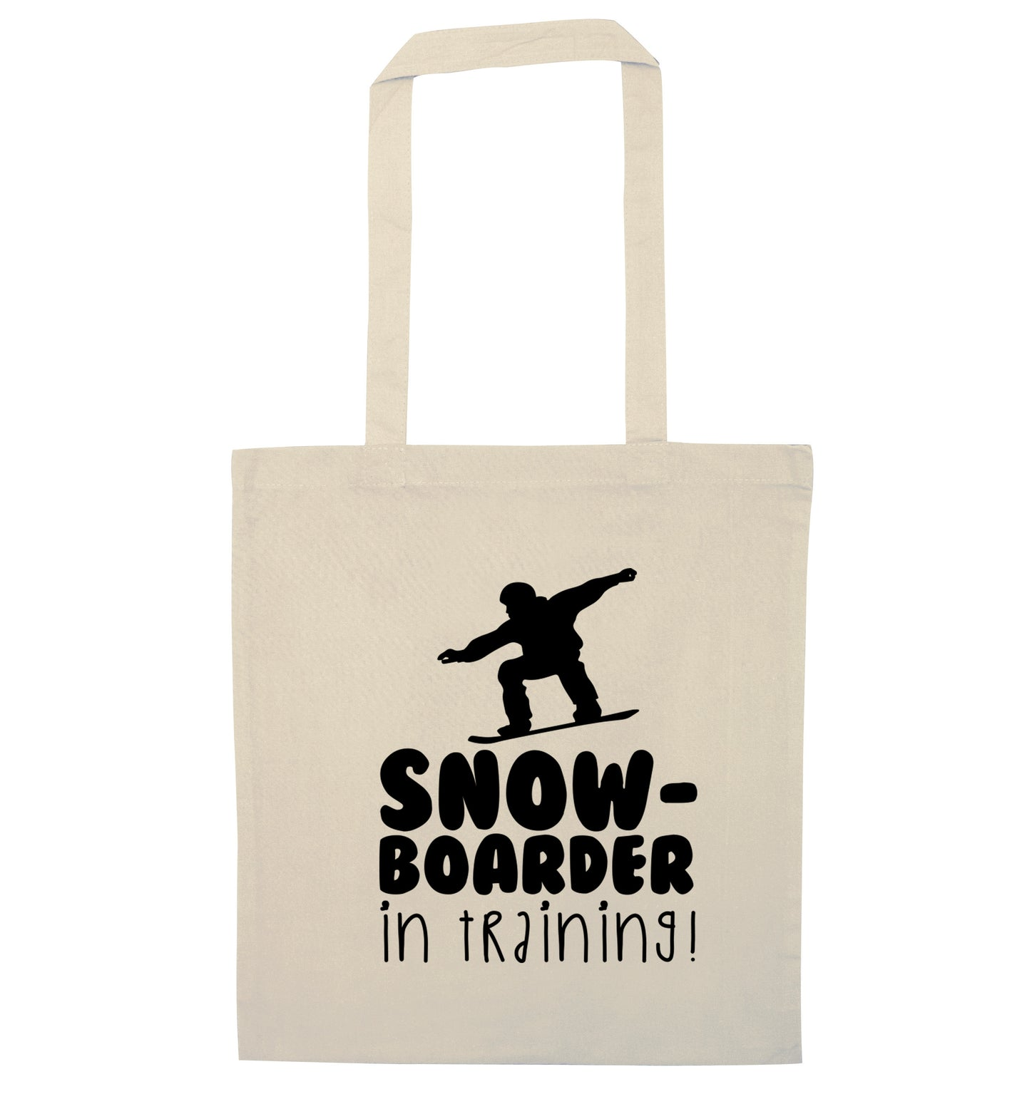 Snowboarder in training natural tote bag