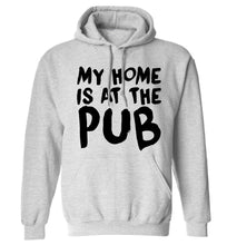 My home is at the pub adults unisex grey hoodie 2XL
