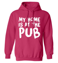 My home is at the pub adults unisex pink hoodie 2XL