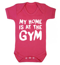 My home is at the gym Baby Vest dark pink 18-24 months