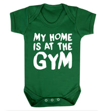My home is at the gym Baby Vest green 18-24 months
