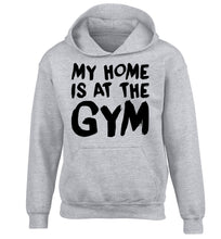My home is at the gym children's grey hoodie 12-14 Years