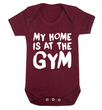 My home is at the gym Baby Vest maroon 18-24 months