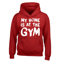 My home is at the gym children's red hoodie 12-14 Years
