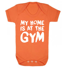 My home is at the gym Baby Vest orange 18-24 months