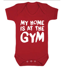 My home is at the gym Baby Vest red 18-24 months