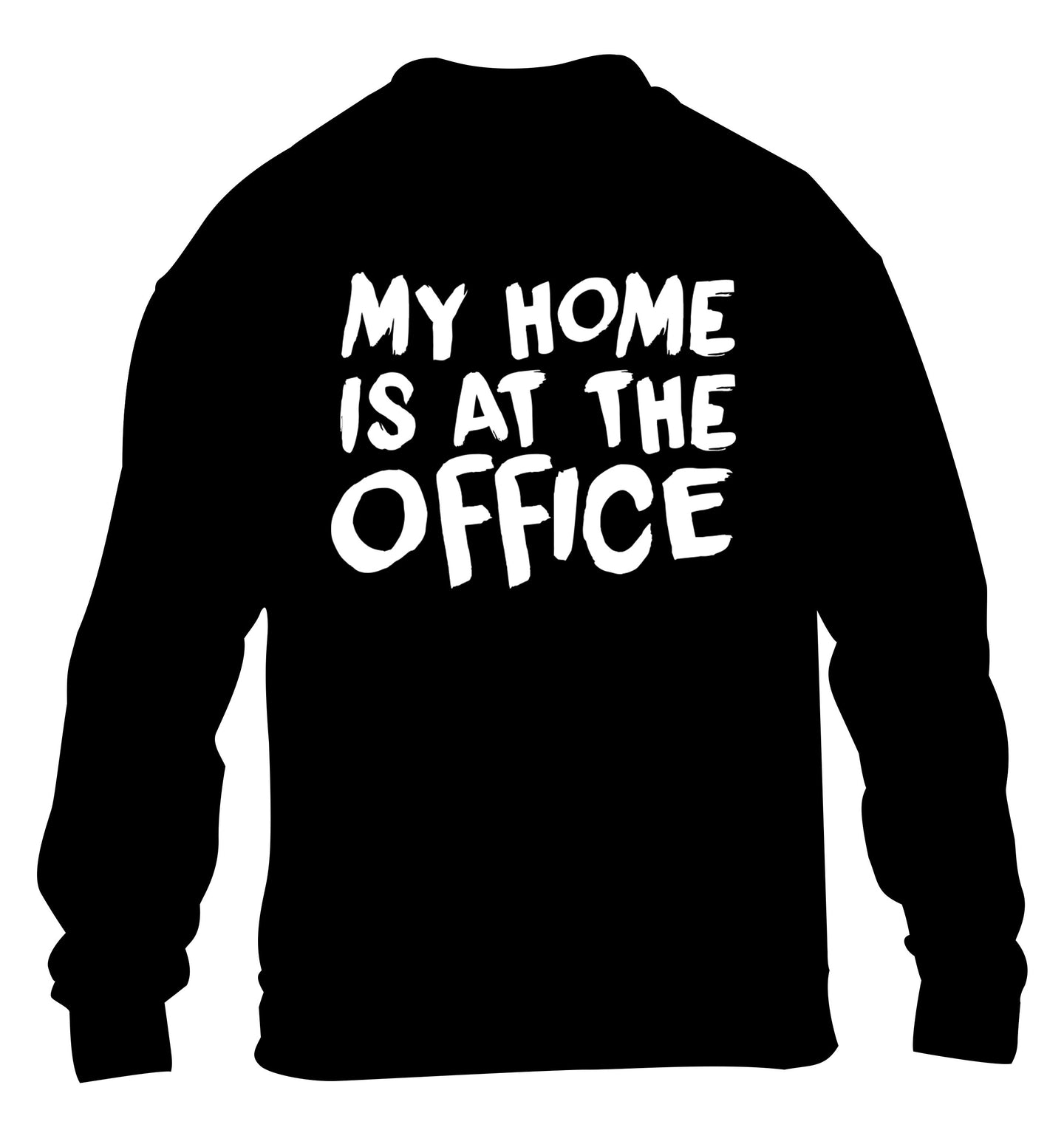 My home is at the office children's black sweater 12-14 Years