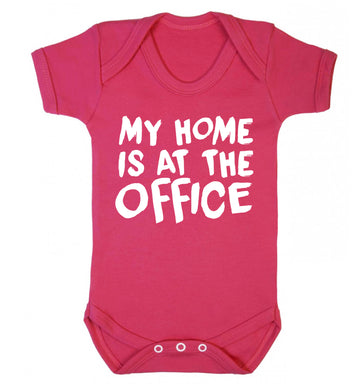 My home is at the office Baby Vest dark pink 18-24 months