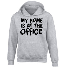My home is at the office children's grey hoodie 12-14 Years