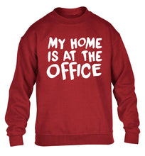 My home is at the office children's grey sweater 12-14 Years