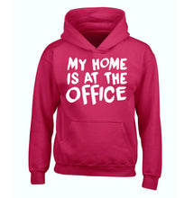 My home is at the office children's pink hoodie 12-14 Years