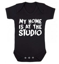 My home is at the studio Baby Vest black 18-24 months