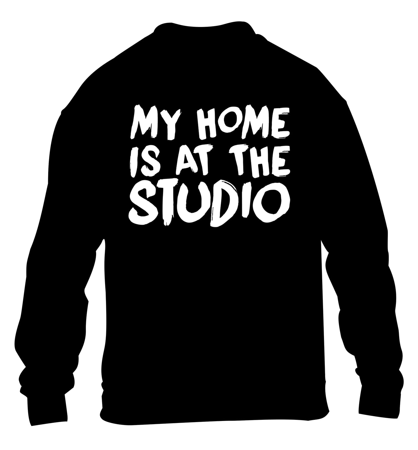 My home is at the studio children's black sweater 12-14 Years
