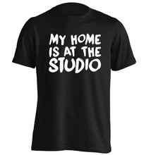 My home is at the studio adults unisex black Tshirt 2XL