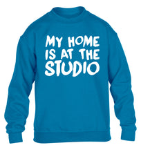 My home is at the studio children's blue sweater 12-14 Years