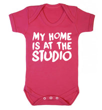 My home is at the studio Baby Vest dark pink 18-24 months