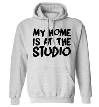 My home is at the studio adults unisex grey hoodie 2XL