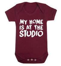 My home is at the studio Baby Vest maroon 18-24 months