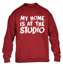 My home is at the studio children's grey sweater 12-14 Years