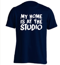 My home is at the studio adults unisex navy Tshirt 2XL