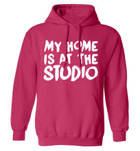 My home is at the studio adults unisex pink hoodie 2XL
