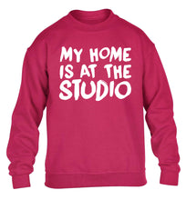 My home is at the studio children's pink sweater 12-14 Years