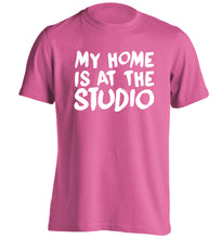 My home is at the studio adults unisex pink Tshirt 2XL