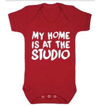 My home is at the studio Baby Vest red 18-24 months