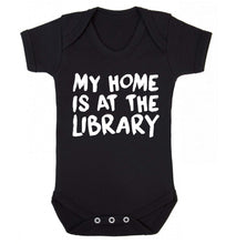 My home is at the library Baby Vest black 18-24 months