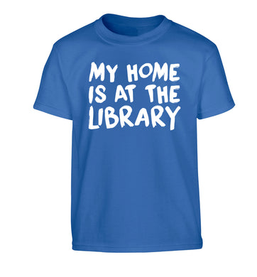 My home is at the library Children's blue Tshirt 12-14 Years