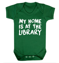 My home is at the library Baby Vest green 18-24 months