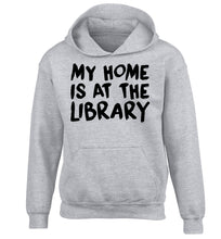My home is at the library children's grey hoodie 12-14 Years