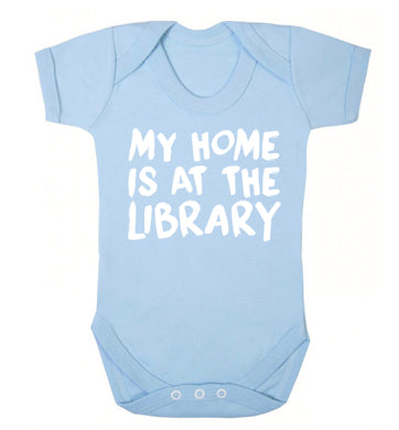My home is at the library Baby Vest pale blue 18-24 months
